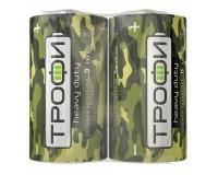 Батарейка Трофи R20 Shrink 2 Классика
