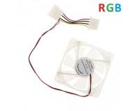 Вентилятор для корпуса LYF 120х120х25мм, 4pin 12V, втулка, RGB LED подсветка