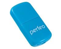 Card Reader Perfeo PF-VI-R009 microSD внешний Blue, блистер
