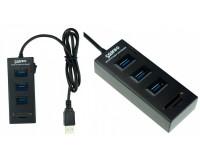 Концентратор USB (HUB) Орбита OT-PCR05 (HB-114) 3 порта USB 3.0 + карты памяти: SD/MicroSD