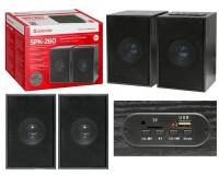 Акустические системы 2.0 Defender SPK 260 2х5Вт корпус МДФ, Bluetooth, FM радио, MP3/TF/USB, регулятор громкости, питание от 220В, черный (65226)