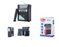 Приемник Fepe FP-1791U аккумуляторный, AUX/USB/microSD до 32Гб, питание: от аккумулятора 18650 (в комплекте) / 2*R20 - в комплект не входят, размер: 15х12х5.5см, фонарик