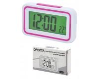 Часы Орбита КК-9905 время, будильник, говорящие, 2*AA, 125 х 75 х 34 мм