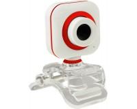 Web Camera Perfeo PF-5033 / PF-A-39-B 2 МПикс White/Red с микрофоном, 640x480, коробка
