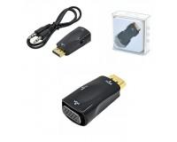 Конвертер - VHC-1 преобразует видео поток HDMI в VGA сигнал + 3.5 mm аудио. Разрешение изображения до 1920 x 1200 точек, совместимо с версией HDMI v.1.3