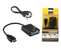 Конвертер - VHC-2 преобразует видео поток HDMI в VGA сигнал + 3.5 mm аудио. Разрешение изображения до 1920 x 1200 точек, совместимо с версией HDMI v.1.4