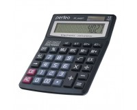 Калькулятор Perfeo PF-A4027 бухгалтерский, 12 разрядный, размер 13, 8х18, 7х3, 2 см, черный