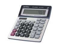 Калькулятор Perfeo PF-A4028 бухгалтерский, 12 разрядный, размер 15х19х2, 7 см, серебристый