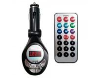 FM трансмиттер TDS TS-CAF04 (TDS-32) 12В, USB/SD/microSD, автомобильный, пульт, черный