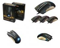 Мышь игровая Apedra A5 USB Optical, (800/1600/2400/3200 DPI) цветная, 6 кнопок+кнопка-колесо шнур 1.2 м, коробка