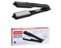 Электрощипцы Atlanta ATH-6733 50Вт 4 в 1 (3 гофры/выпрям.) алюминевые насадки, керамич. нагревательный элемент, черный