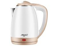 Чайник Atlanta ATH-2437 1800Вт. 1, 8л. металл, дисковый белый