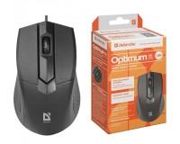 Мышь Defender MB-270 Optimum USB Optical (1000 dpi) черная, 3 кнопки+кнопка-колесо, коробка