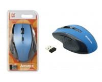 Мышь беспроводная Defender MM-365 Accura USB Optical (800/1600dpi) синий, 5 кнопок+кнопка-колесо, блистер (52366)