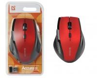 Мышь беспроводная Defender MM-365 Accura USB Optical (800/1600dpi) красный, 5 кнопок+кнопка-колесо, блистер (52367)