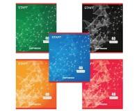 Тетрадь 40 листов STAFF 402645 формат А5, обложка- мелованный картон, внутренний блок - офсет, 60 г/м2, клетка, скрепка