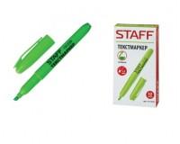 Маркер текстовый STAFF 151239 скошенный наконечник 1-3 мм цвет чернил: зеленый