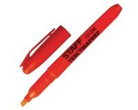 Маркер текстовый STAFF 151240 скошенный наконечник 1-3 мм цвет чернил: оранжевый