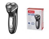 Электробритва Atlanta ATH-6600 2, 4Вт., 3 плавающие роторные головки, аккумуляторная, индикатор зарядки и разрядки, выдвижной тример