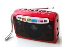 Приемник Haoning HN-901BT аккумуляторно-сетевой, AUX/USB/microSD до 32Гб, Bluetooth питание: встроенный аккумулятор 1200мА (miniUSB 5V шнур в комплекте) / 4*AA(R6) в комплект не входят/ 220V шнур в комплекте