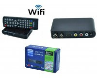Цифровой телевизионный ресивер Орбита HD924 DVBT2/C + медиаплеер HD 1080p, Wi-Fi: требуется внешний USB адаптер (совместим с чипами MT7601), внешний блок питания