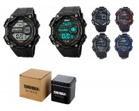 Часы наручные Skmei 1115 электронные (дата, будильник, секундомер), пластик, подсветка, CR2025
