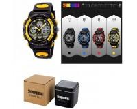 Часы наручные Skmei 1163 электронные (дата, будильник, секундомер), пластик, подсветка, CR2025
