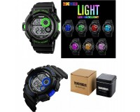 Часы наручные Skmei 1222 электронные (дата, будильник, секундомер), пластик, подсветка, CR2025