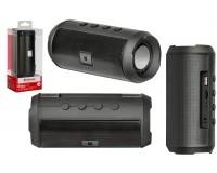 Акустическая система mini MP3 Defender S500 Enjoy 10Вт Bluetooth, MP3, FM-радио, microSD, USB, аккумулятор Li-Ion 1800mA, функция Hands free, True Wireless Stereo (TWS), Размер: 6.5x6.5x14.0 см черная