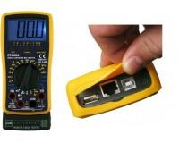 Мультиметр DT4300A цифровой, прозвон кабеля: RJ11/RJ12/RJ45/USB, удержание данных