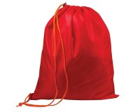 Сумка для обуви ТОП-СПИН для учеников начальной школы 226552 42х33 см., плотная, водоотталкивающая ткань, затягивается шнурком, с пластиковым фиксатором красная