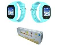 Часы Smart - GP-11 детские с GPS, кнопка SOS, встроенный телефон, набор номера вручную, телефонная книга голубой