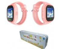 Часы Smart - GP-11 детские с GPS, кнопка SOS, встроенный телефон, набор номера вручную, телефонная книга розовый