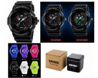 Часы наручные Skmei 0966 электронные (дата, будильник, секундомер, таймер), пластик, подсветка, разные цвета