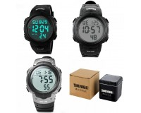 Часы наручные Skmei 1068 электронные (дата, будильник, секундомер, таймер), пластик, подсветка