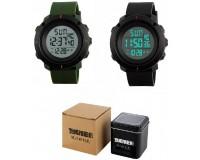Часы наручные Skmei 1213 электронные (дата, будильник, секундомер, таймер), пластик, подсветка