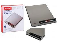 Весы кухонные Atlanta ATH-6217 электронные, цена деления 1 г. max 5 кг. индикатор перегрузки, автоотключение, черные