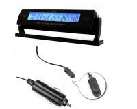 Часы автомобильные VST 7013V дата, время, будильник, вольтметр, темпратура внутренняя и наружная, подсветка