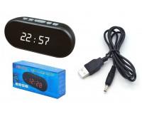Часы сетевые VST 712-6 белые цифры, без блока питания