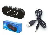 Часы сетевые VST 715-6 белые цифры, без блока питания