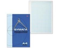 Бумага масштабно-координатная HATBER N002704 количество листов: 16 шт. на скрепке, размер А4 295х210 мм., плотность бумаги - 80 г/м2.(127119) линовка: голубая