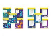 Тетрадь 12 листов ЮНЛАНДИЯ 104782 формат А5 обложка - мелованный картон, внутренний блок - офсет 60 г/м2, линия,