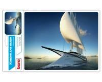Коврик для мыши Buro BU-R51753 Яхта 230х180х2мм, PVC, резина, нескользящее основание