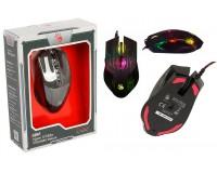 Мышь игровая A4Tech Q51 Bloody USB Optical (800/1600/2000/3200 dpi) черная, 8 кнопок+колесо-кнопка металлические ножки: свыше 300 км., время отклика: 1 мс., скорость: 6666 fps., подсветка кольца прокрутки и принта, коробка