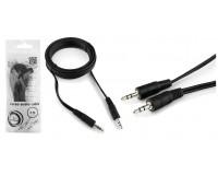 Кабель Jack 3.5 штекер-штекер Cablexpert длина 3м, пакет, черный CCA-404-3M