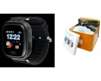 Часы Smart - GP-01 детские с GPS, кнопка SOS, тайное прослушивание микрофона родителями, просмотр маршрута, датчик снятия с руки, антипотеря, оповещение выхода из указанного района, черные