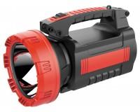 Фонарь-прожектор Спутник AFP868-10W 1х10Вт+24х4, 8Вт светодиодов, аккумулятор 4500mAh 4V красный/чёрный