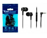 Наушники с микрофоном Blast BAH-250 внутриканальные, кабель 1, 2м, пакет, черные