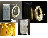 Гирлянда Огонек OG-LDG04 (LD-150) светодиодная RGB 3 м. Питание: 2*R6(AA) в комплект не входят,
