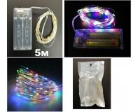 Гирлянда Огонек OG-LDG07 (LD-154) светодиодная цветная 5 м. Питание: 2*R6(AA) в комплект не входят,